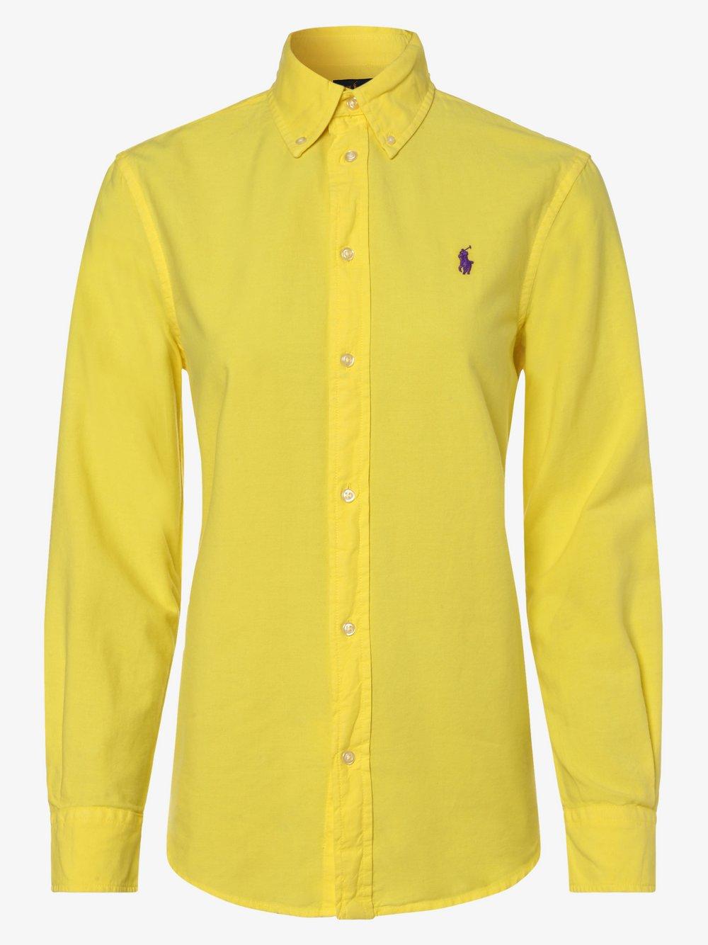 Polo Ralph Lauren - Bluzka damska – Relaxed Fit, żółty
