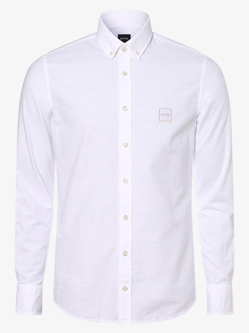 BOSS Casual – Koszula męska – Mabsoot, biały Van Graaf 460302-0002