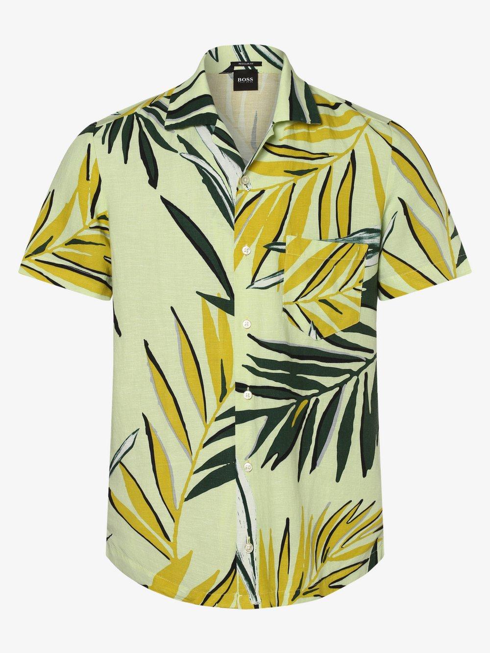 BOSS Casual – Koszula męska – Rhythm, żółty Van Graaf 460306-0001-09900