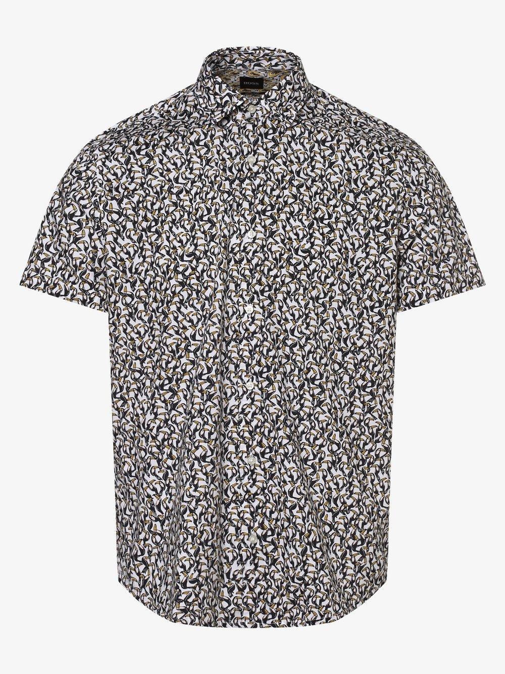 BOSS Casual – Koszula męska – Rash, biały Van Graaf 460309-0001