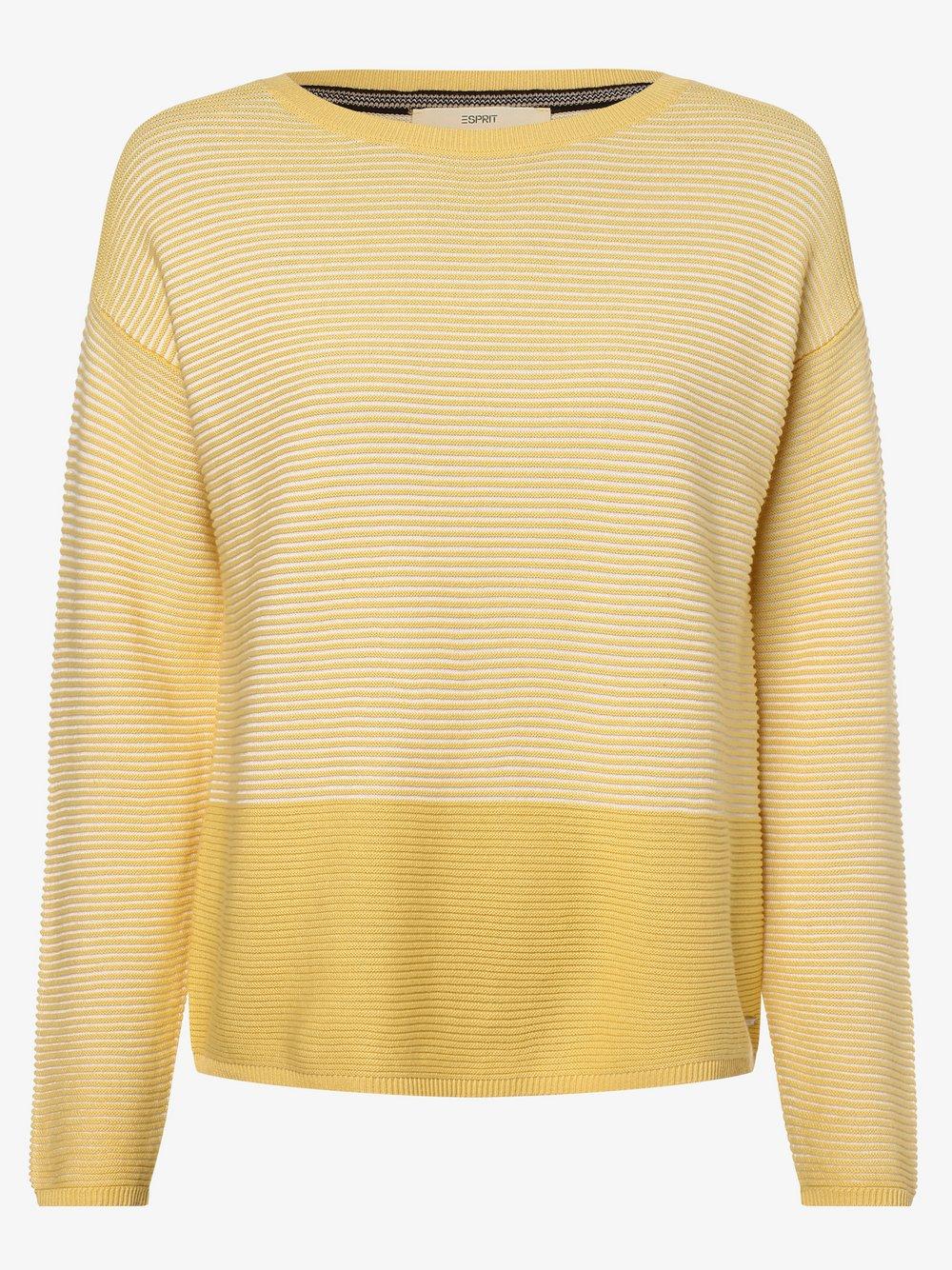 Esprit Casual - Sweter damski, żółty Esprit Casual