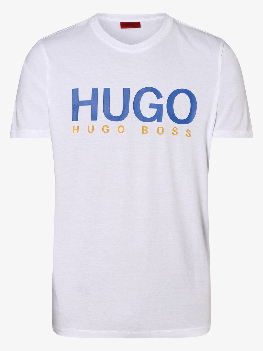 HUGO - T-shirt męski – Dolive202, biały