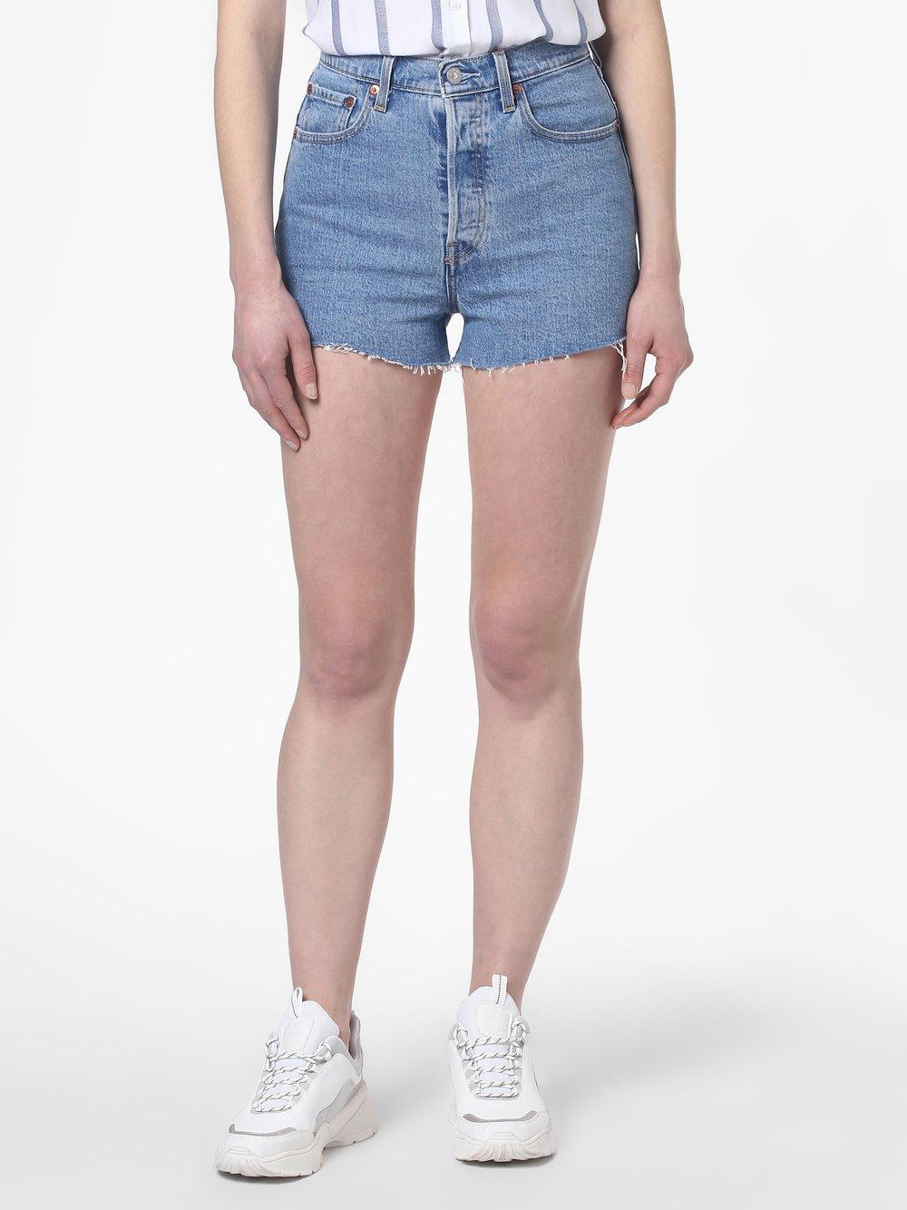 Levi's - Damskie krótkie spodenki jeansowe – Ribcage, niebieski