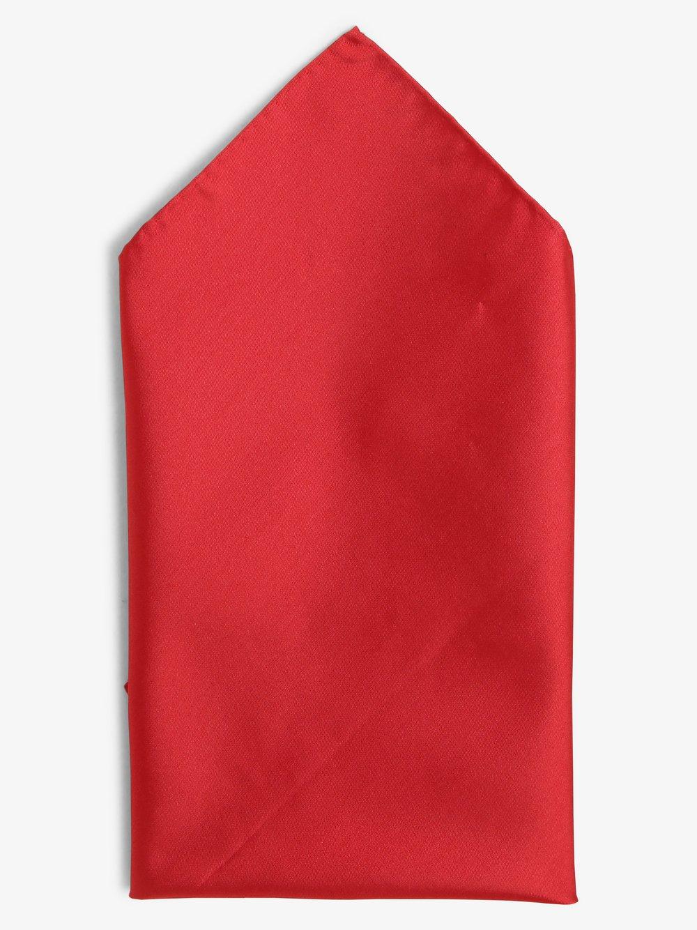 Finshley & Harding - Poszetka jedwabna męska, czerwony
