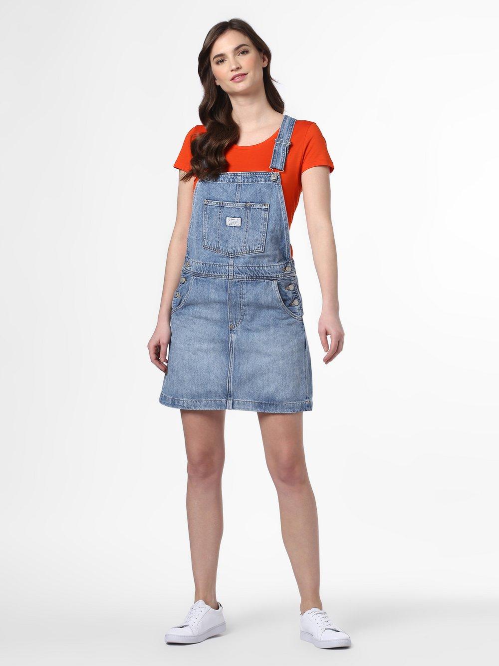 Levi's - Damska sukienka na szelkach, niebieski