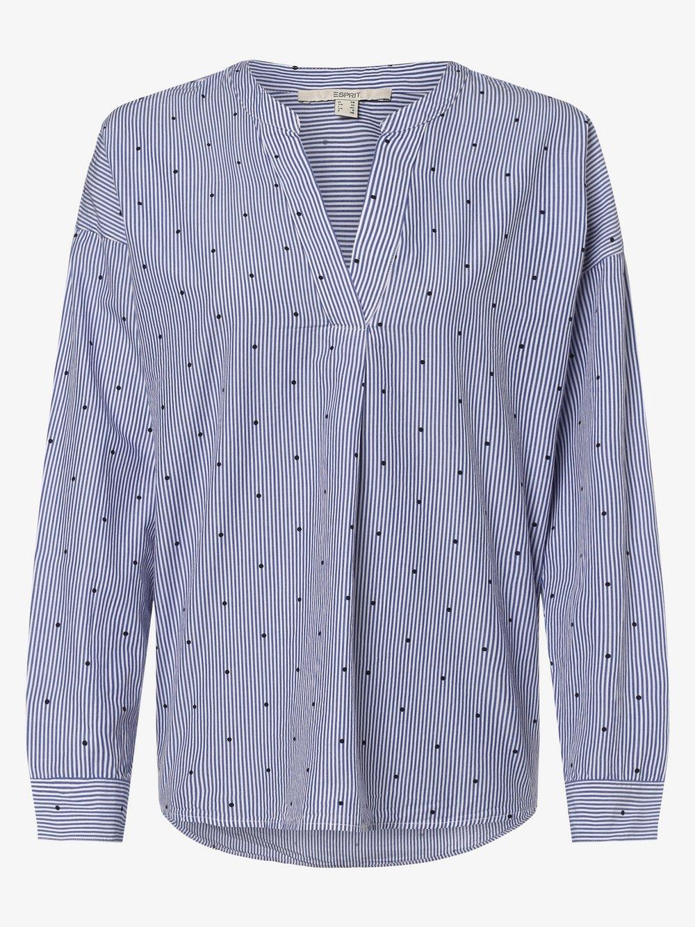 Esprit Casual – Bluzka damska, niebieski Van Graaf 460962-0001-00400