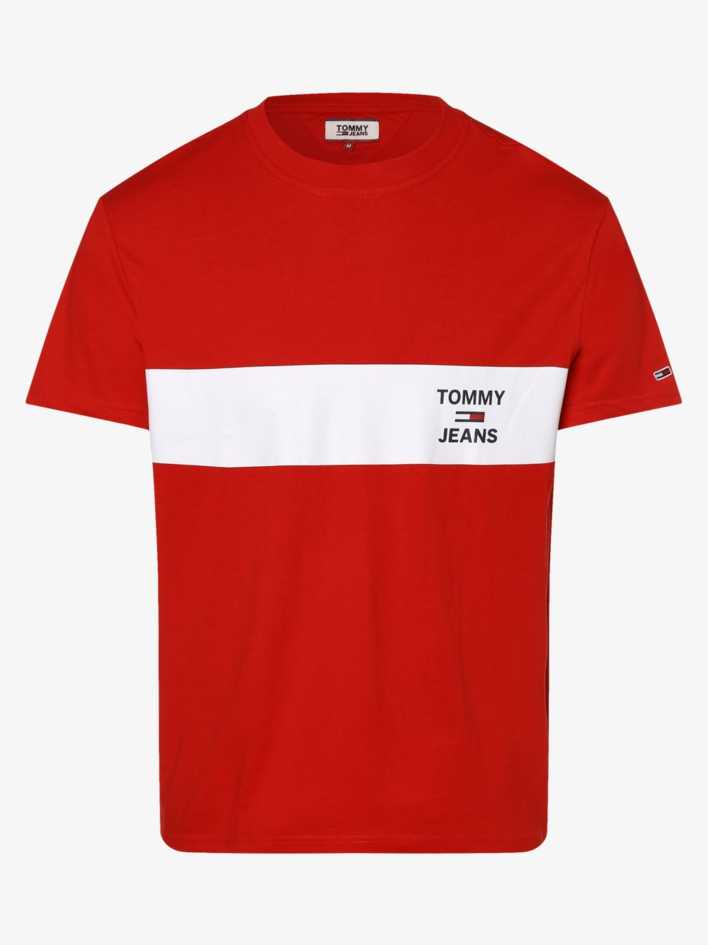Tommy Jeans - T-shirt męski, czerwony