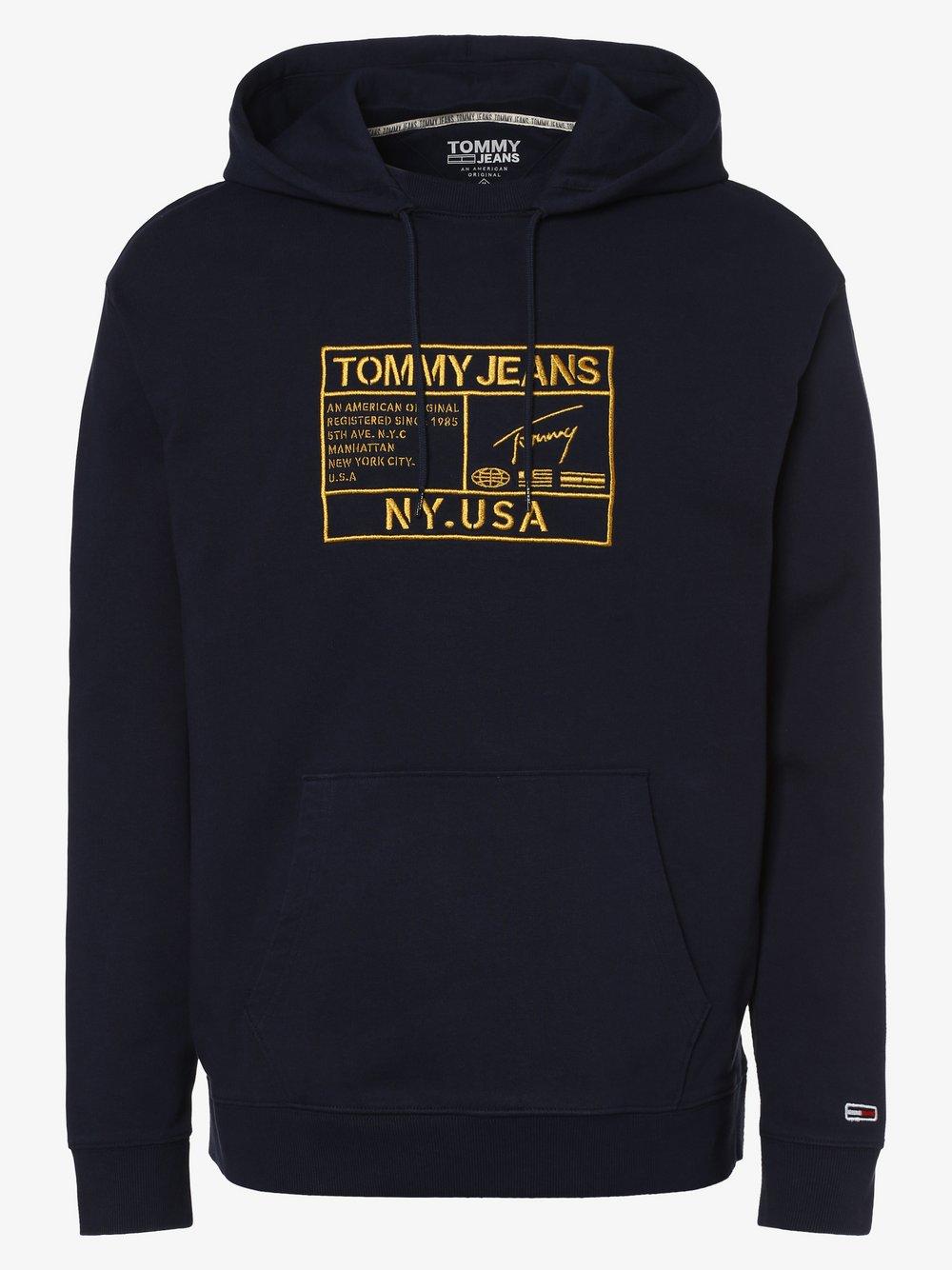 Tommy Jeans - Męska bluza nierozpinana, niebieski