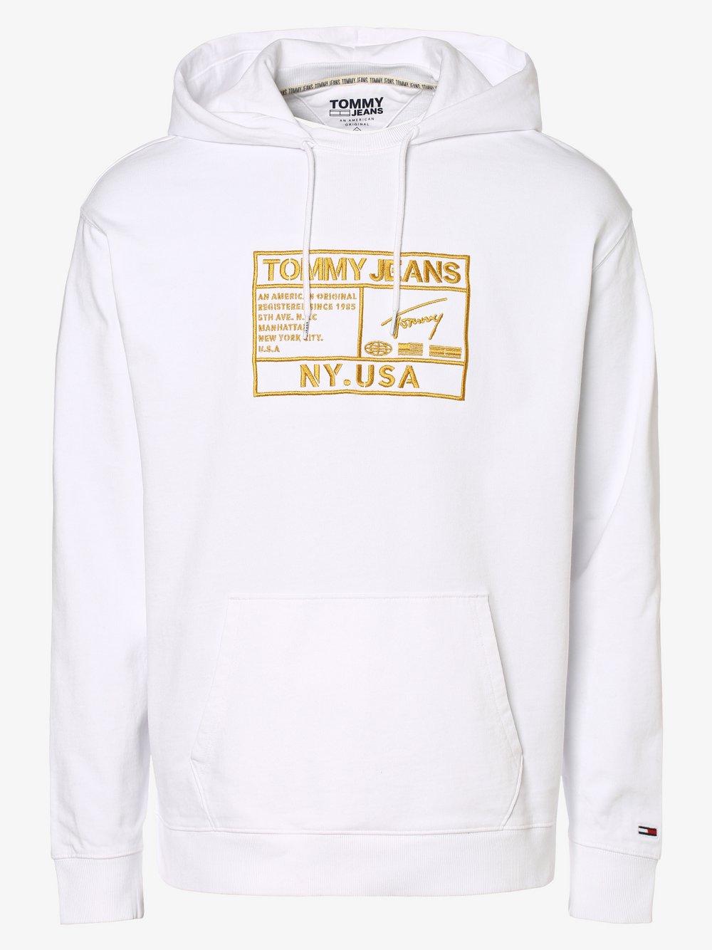 Tommy Jeans - Męska bluza nierozpinana, biały