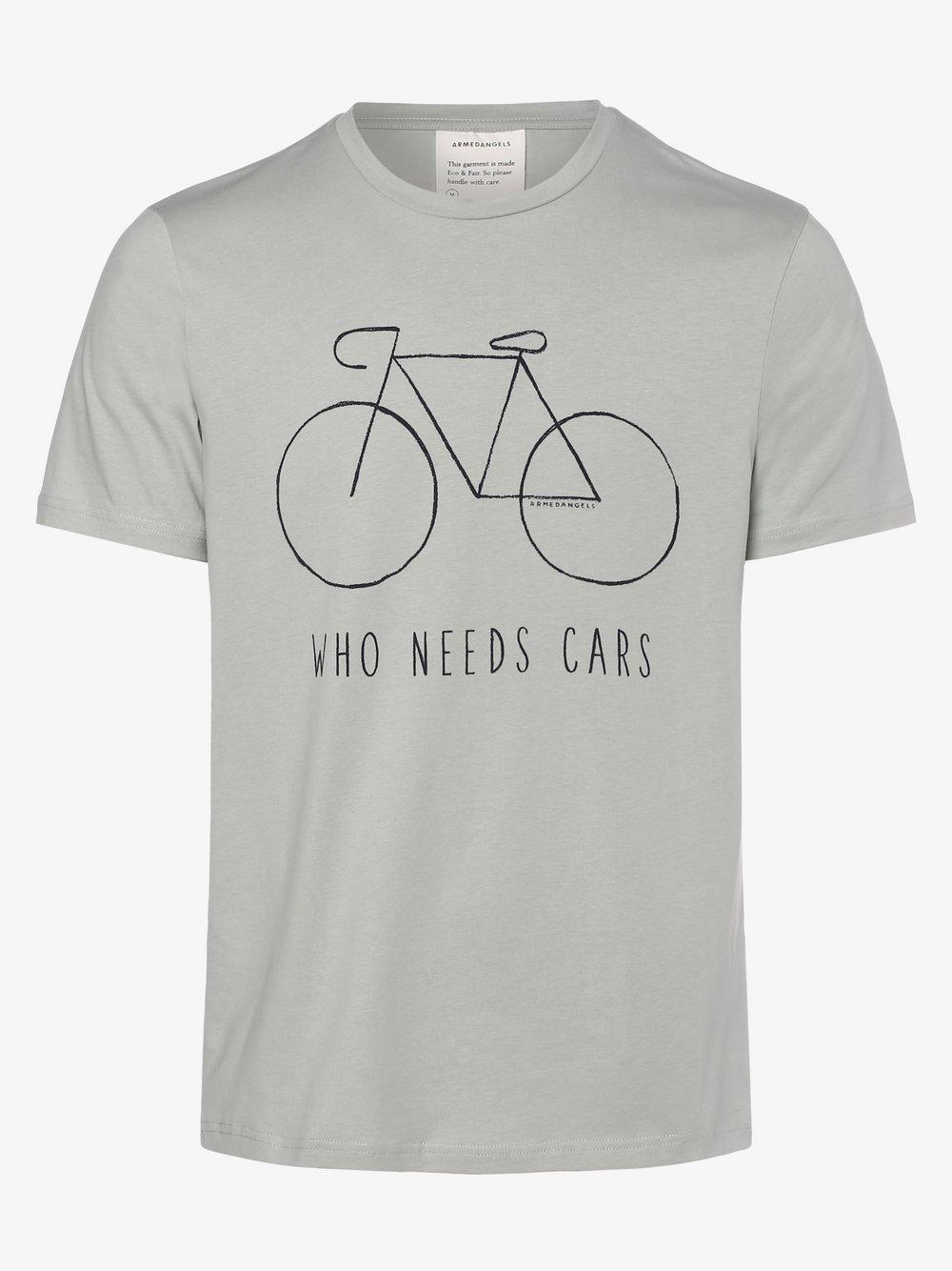 ARMEDANGELS - T-shirt męski – Jaames, niebieski