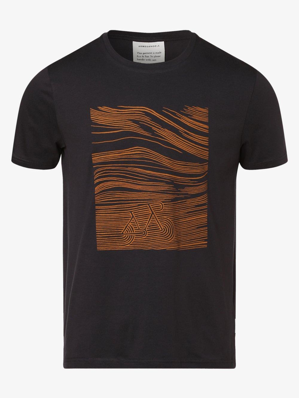 ARMEDANGELS - T-shirt męski – Jaames Bicycle, szary