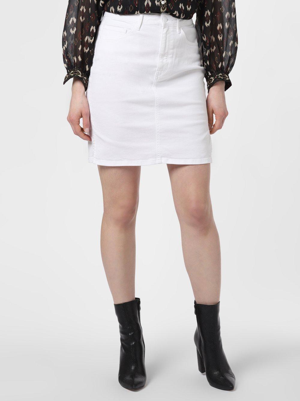 BOSS Casual - Jeansowa spódnica damska – J90 Elgin, biały