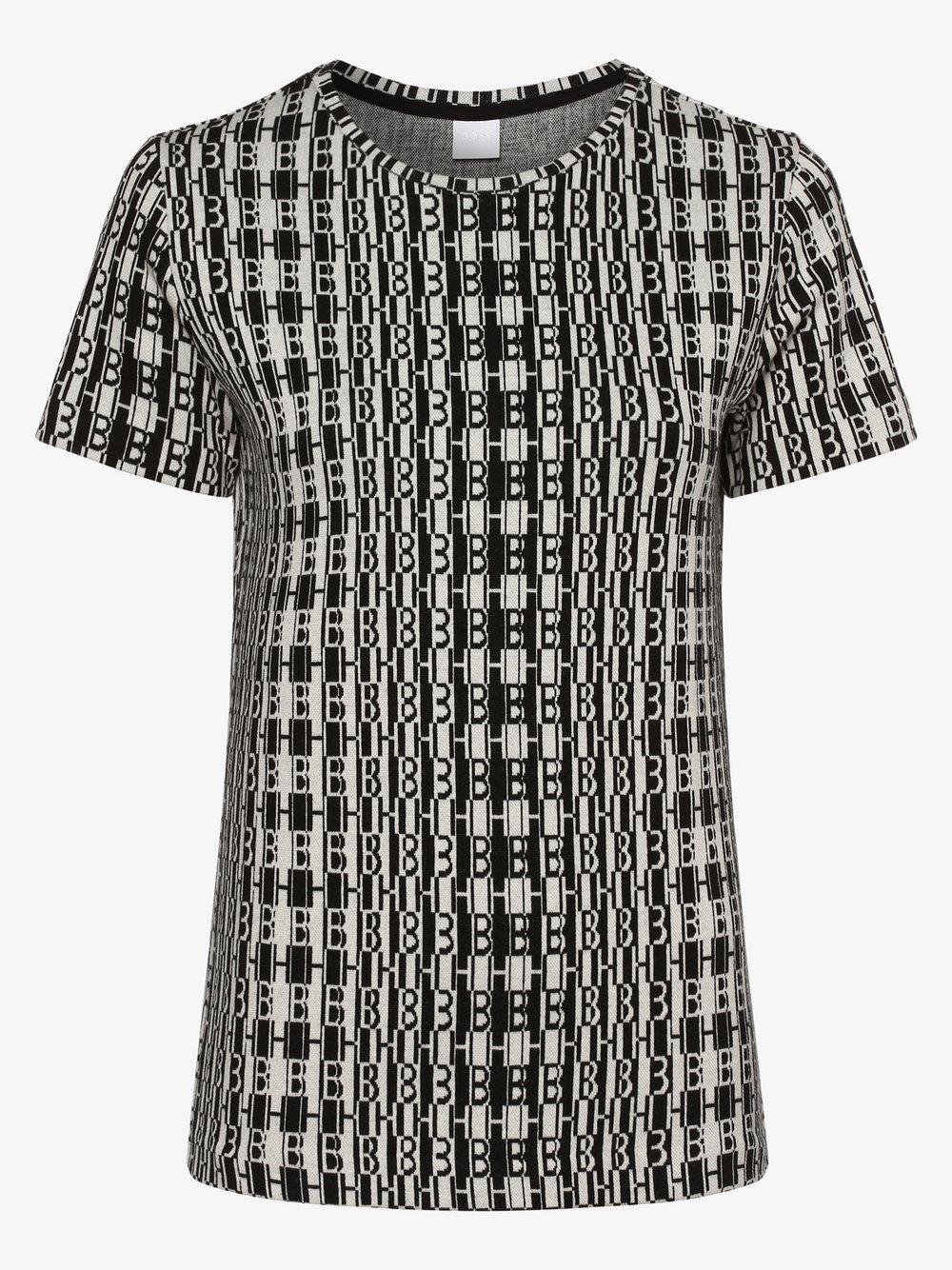 BOSS Casual – Koszulka damska – Tafil, czarny Van Graaf 461097-0001-09970