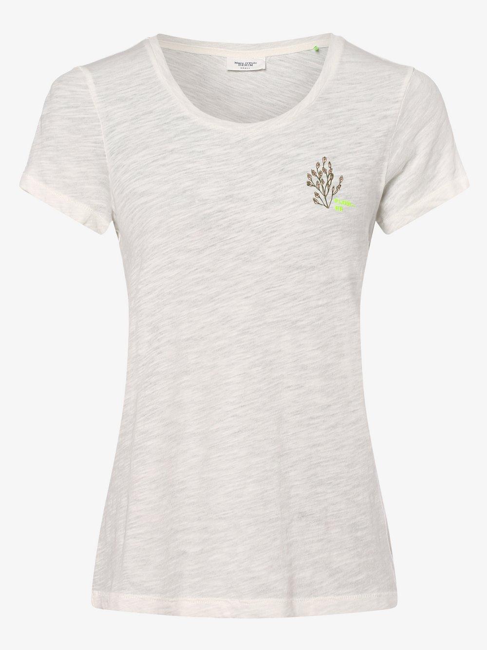 Marc O'Polo Denim – T-shirt damski, biały Van Graaf 461205-0002-09960