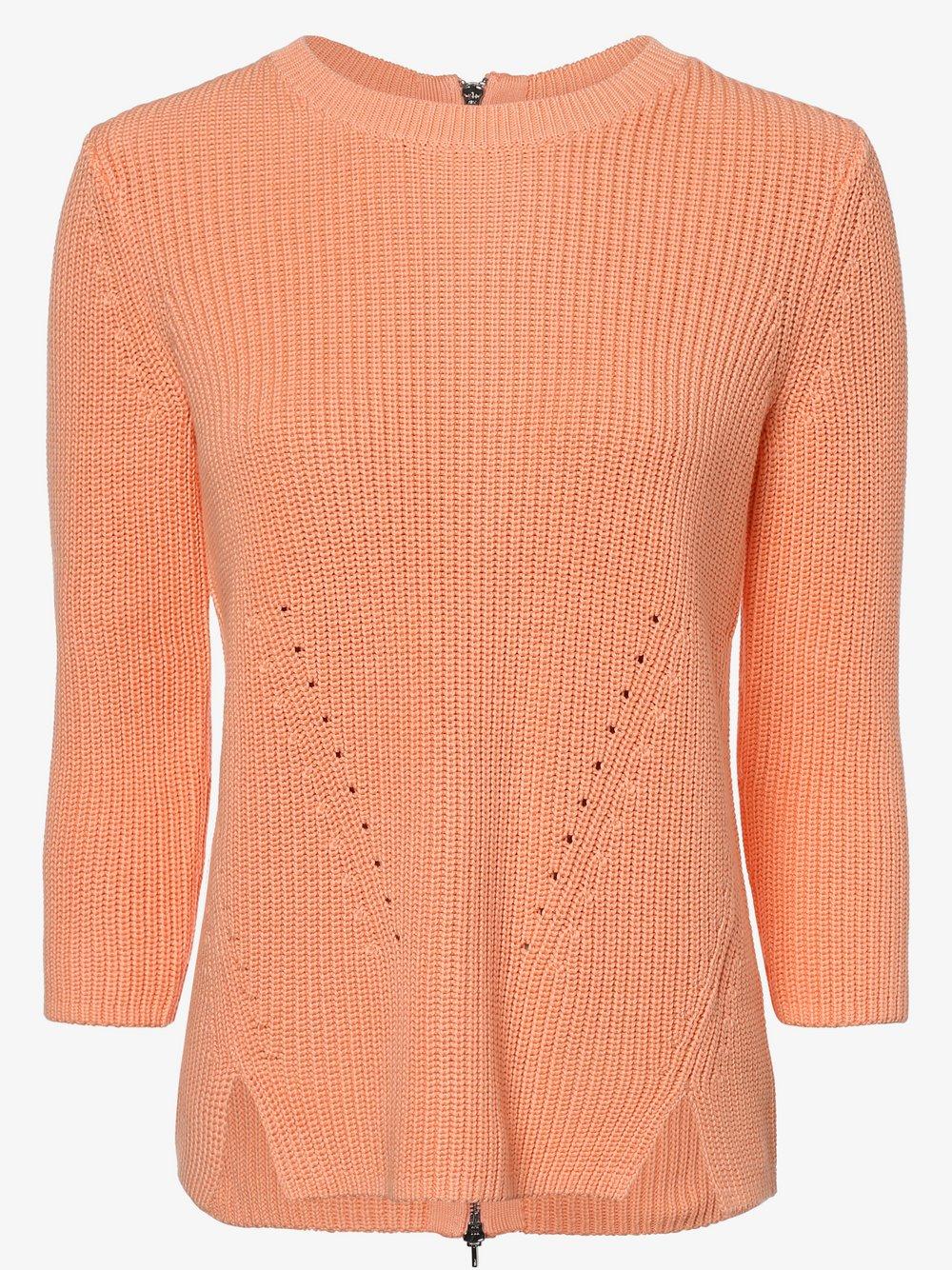 HUGO - Sweter damski – Serlina, pomarańczowy