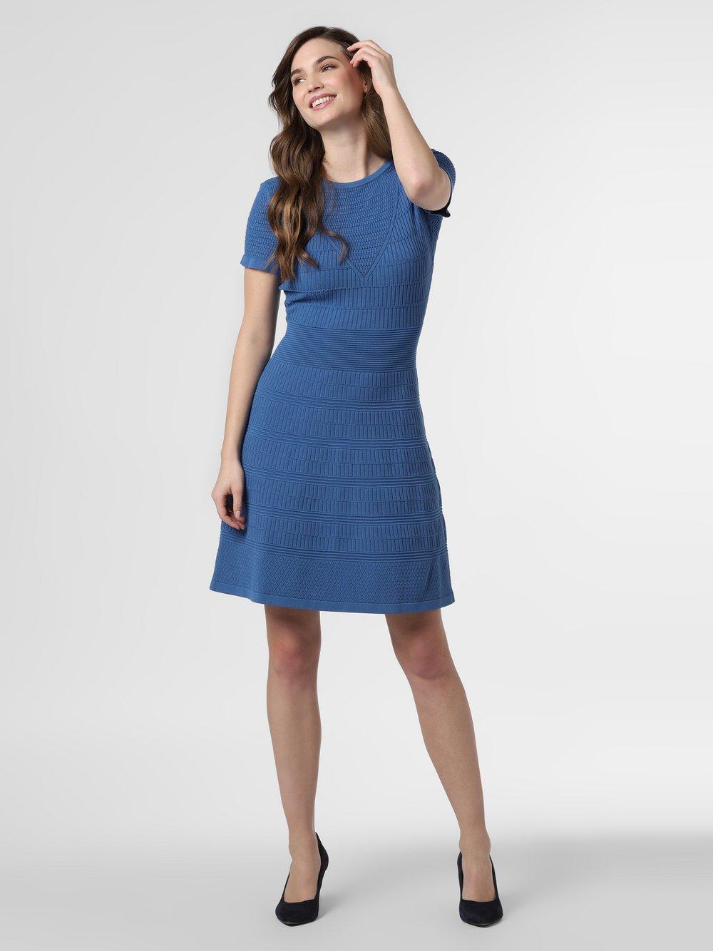 HUGO - Sukienka damska – Satoriny, niebieski