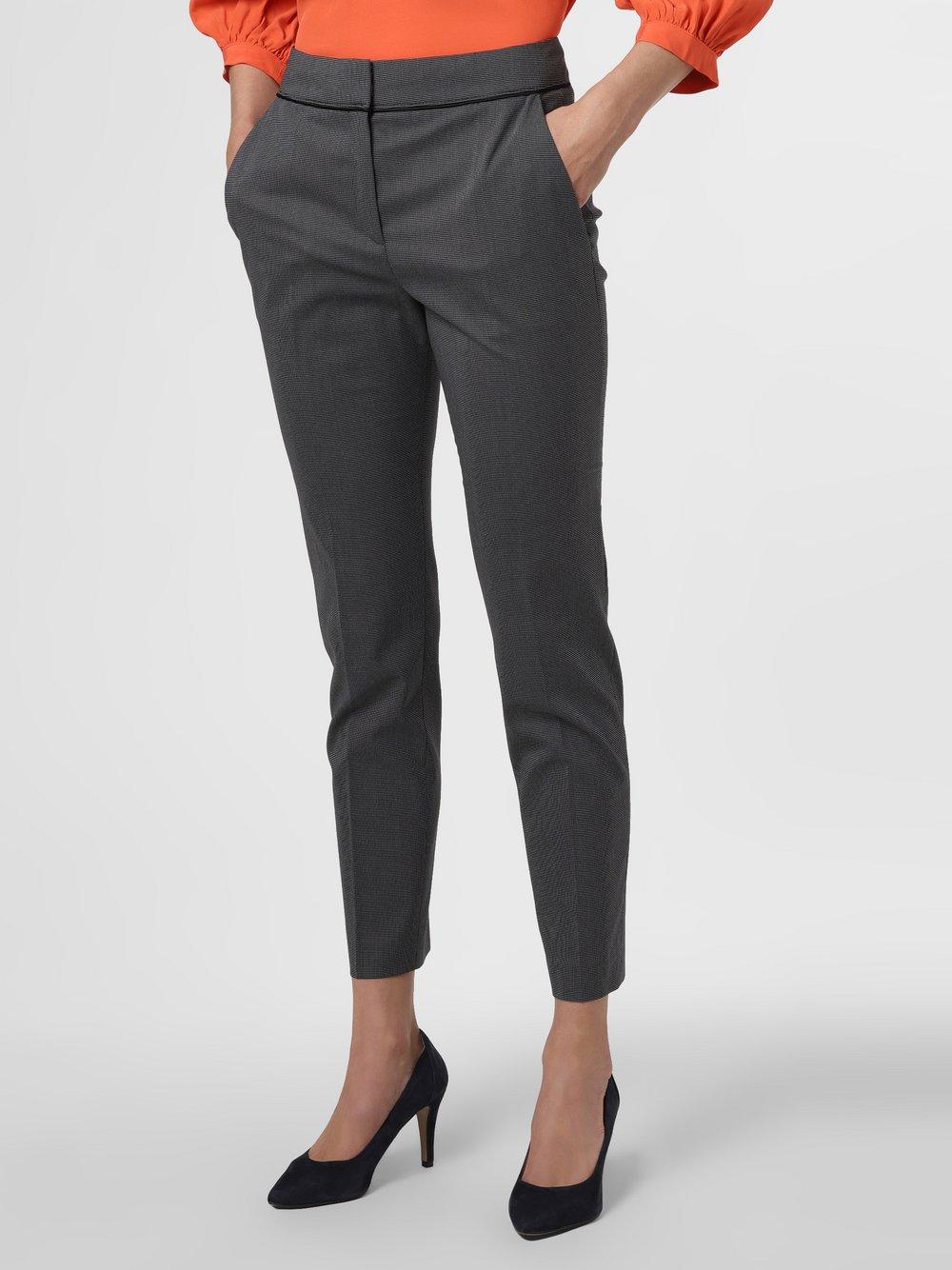 HUGO - Spodnie damskie – The Cropped Trousers, czarny