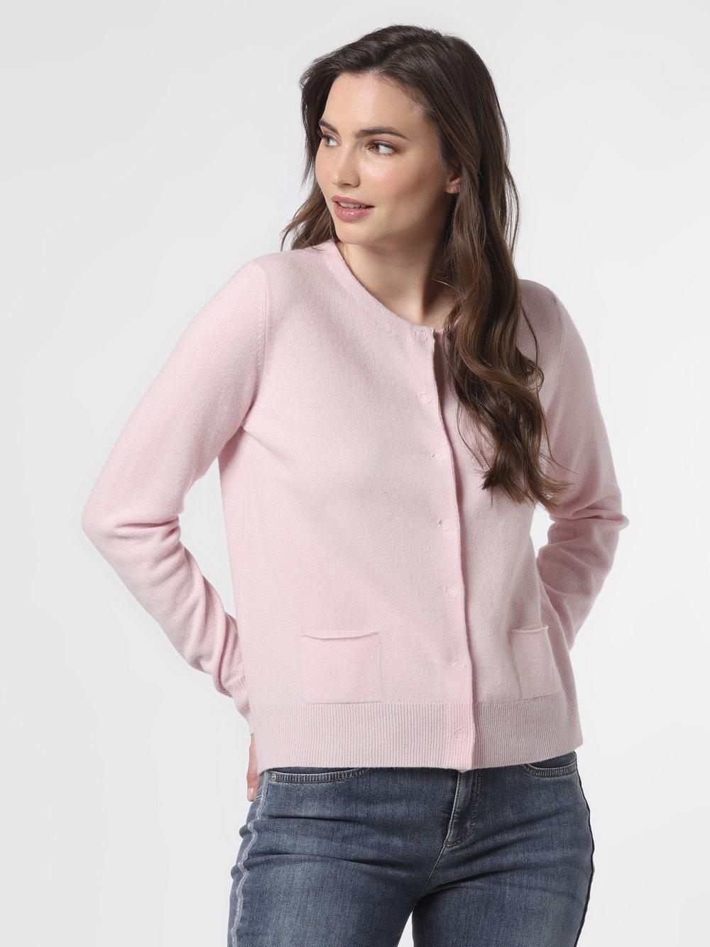 SvB Exquisit – Kardigan damski z czystego kaszmiru, różowy Van Graaf 461341-0005-00440