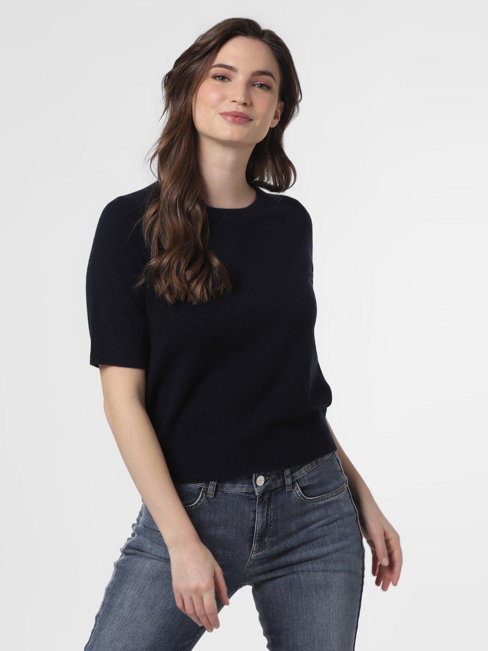 SvB Exquisit – Sweter damski z czystego kaszmiru, niebieski Van Graaf 461344-0001-00360