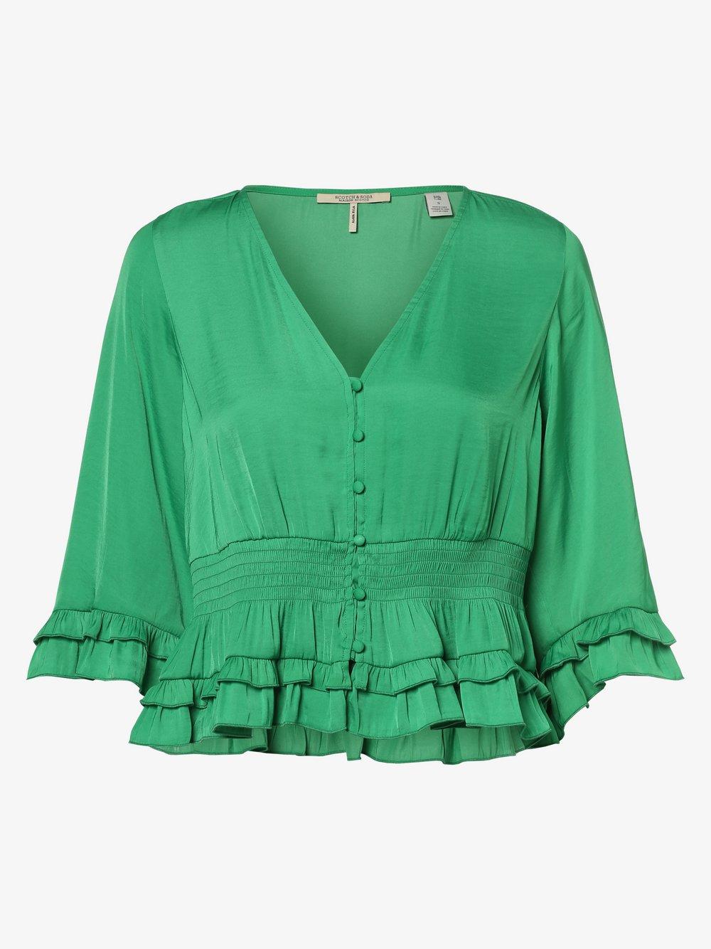 Scotch & Soda – Bluzka damska, zielony Van Graaf 461363-0001