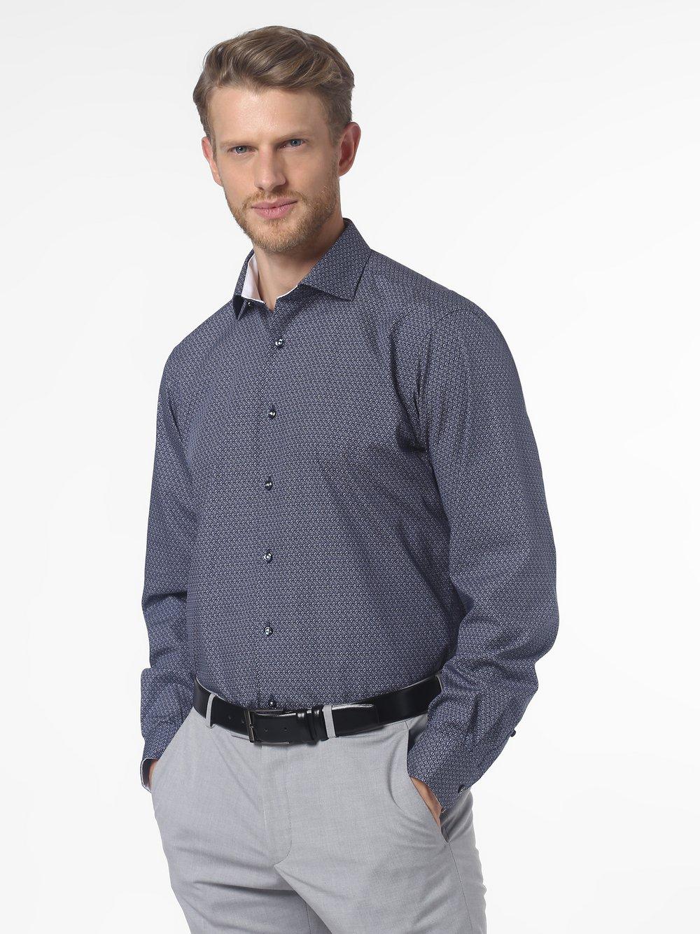 James – Koszula męska łatwa w prasowaniu, niebieski Van Graaf 461392-0010-00420