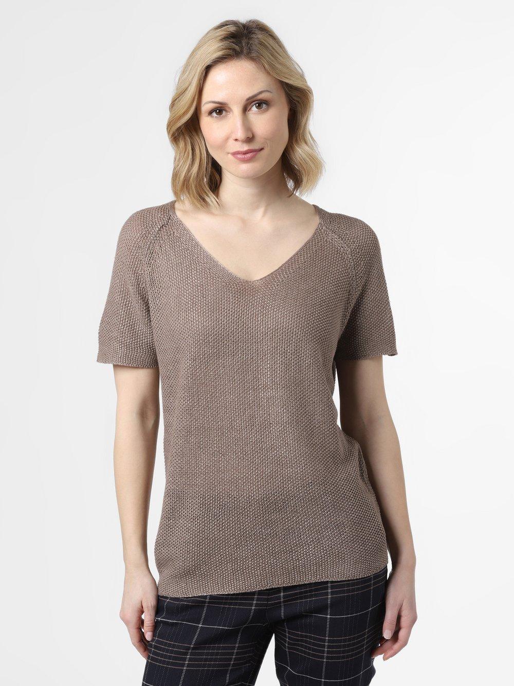 SvB Exquisit – Sweter damski z lnu, brązowy Van Graaf 461489-0002