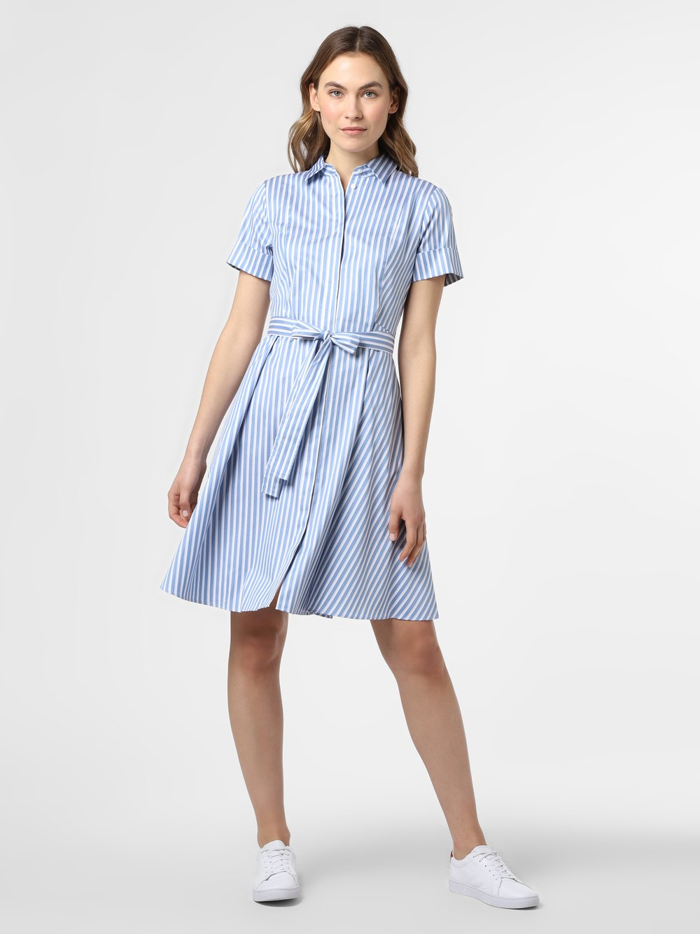 HUGO - Sukienka damska – Ekaliana, niebieski