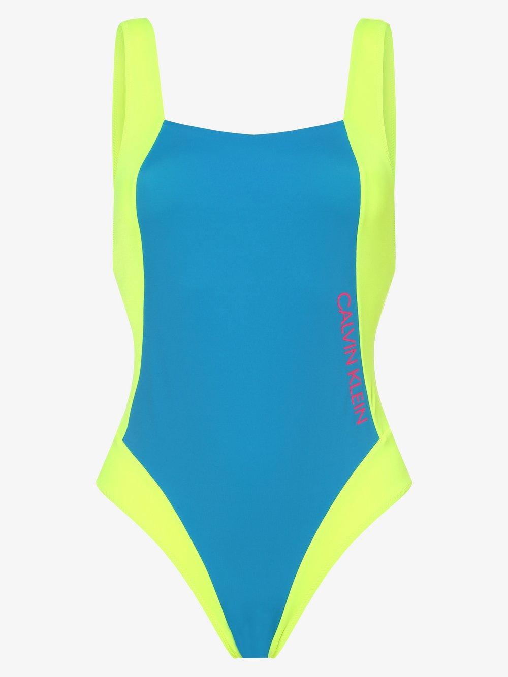 Calvin Klein - Damski strój kąpielowy, niebieski