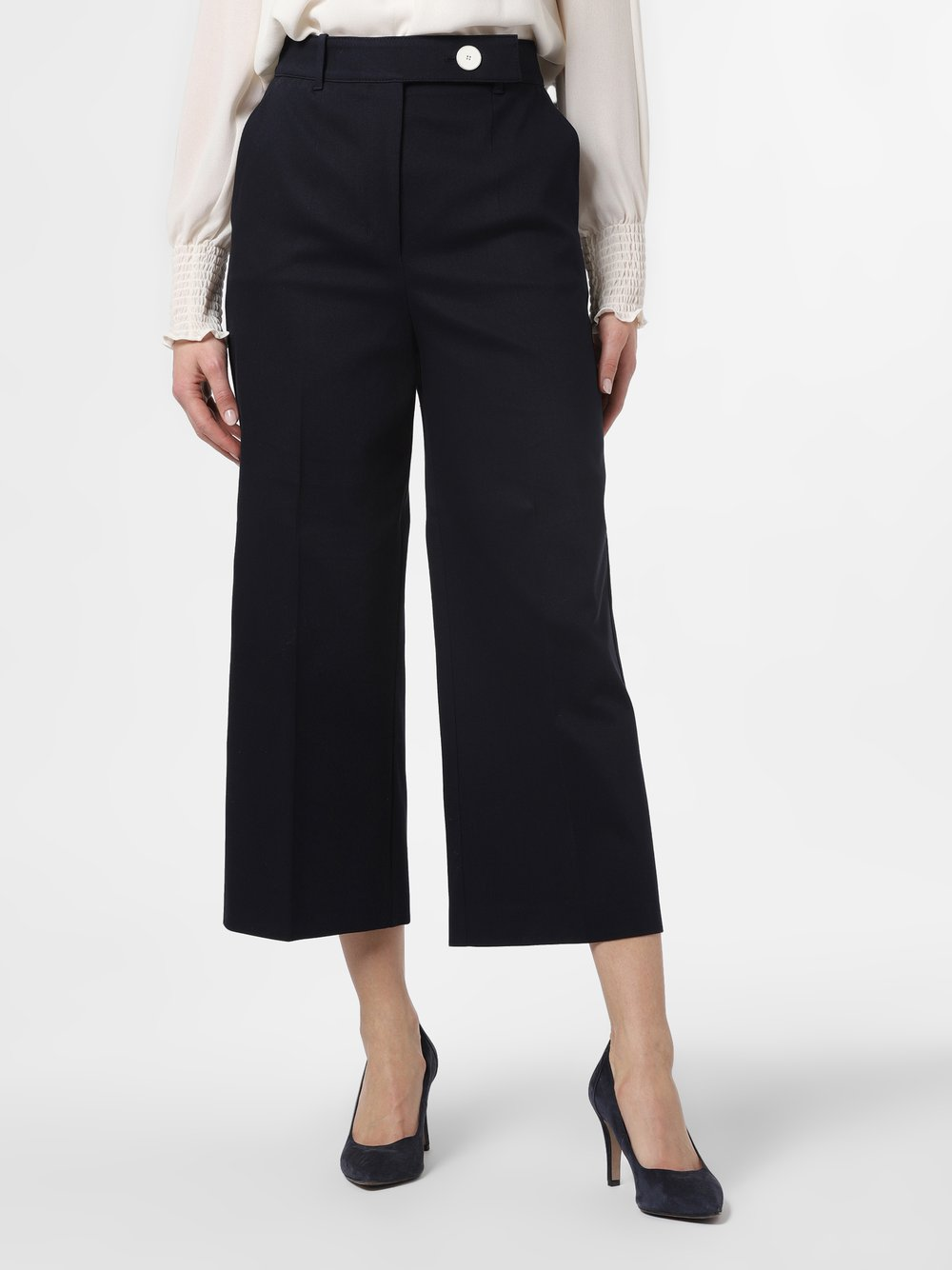 BOSS - Spodnie damskie – Tapima, niebieski