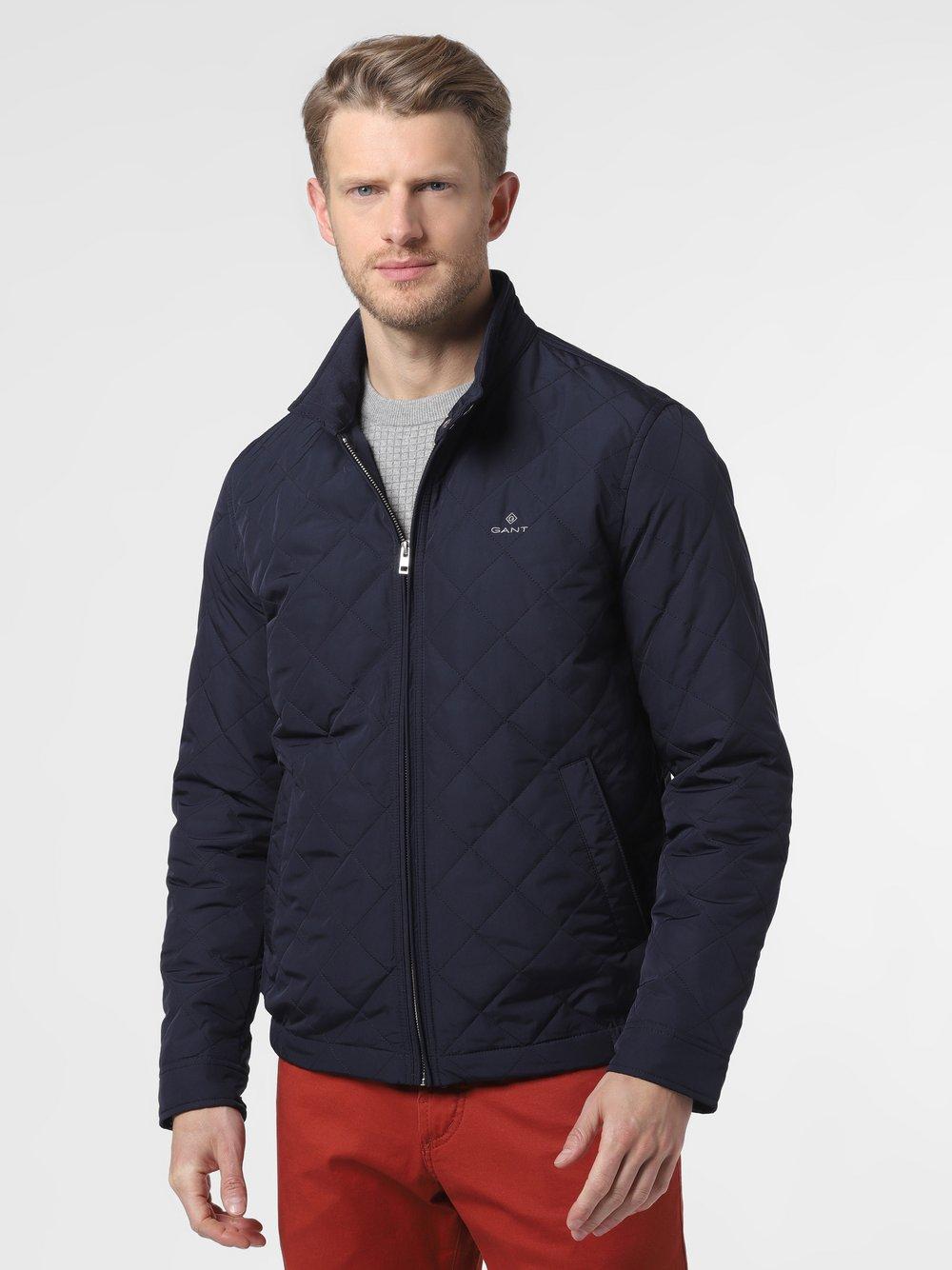 Gant - Męska kurtka pikowana, niebieski