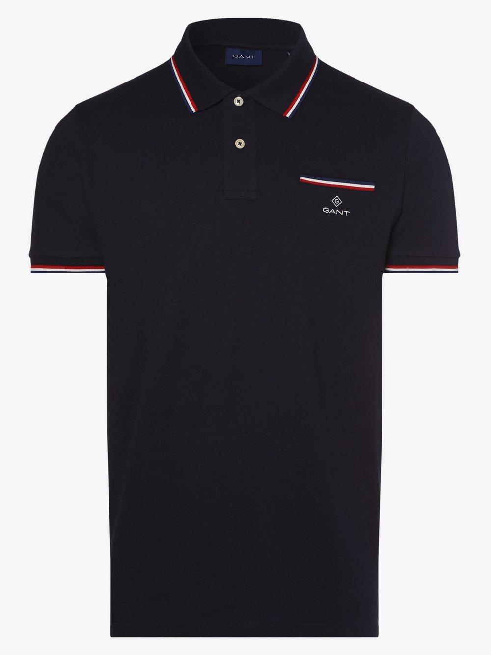 Gant - Męska koszulka polo, niebieski