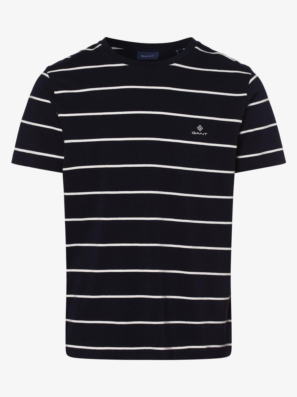 Gant - T-shirt męski, niebieski
