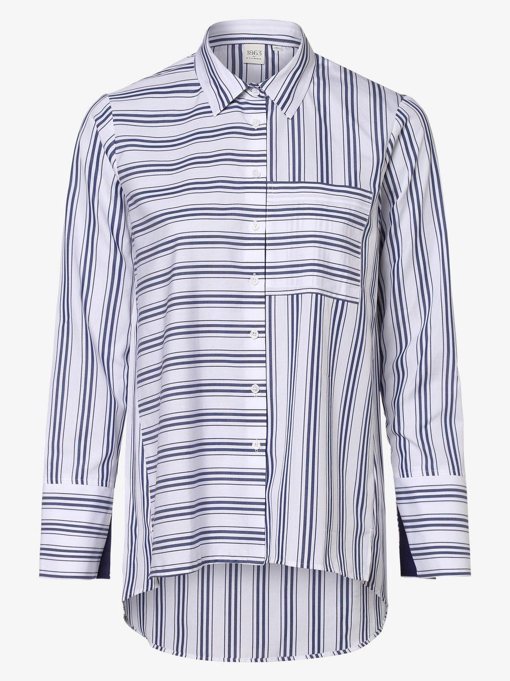 Eterna Premium – Bluzka damska – łatwa w prasowaniu, niebieski Van Graaf 461801-0001