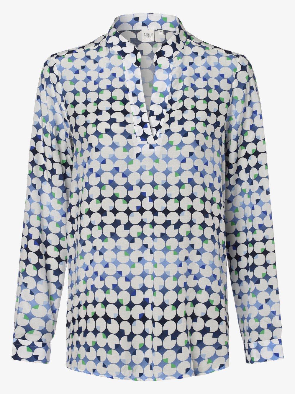Eterna Premium – Bluzka damska, niebieski Van Graaf 461809-0001-00440