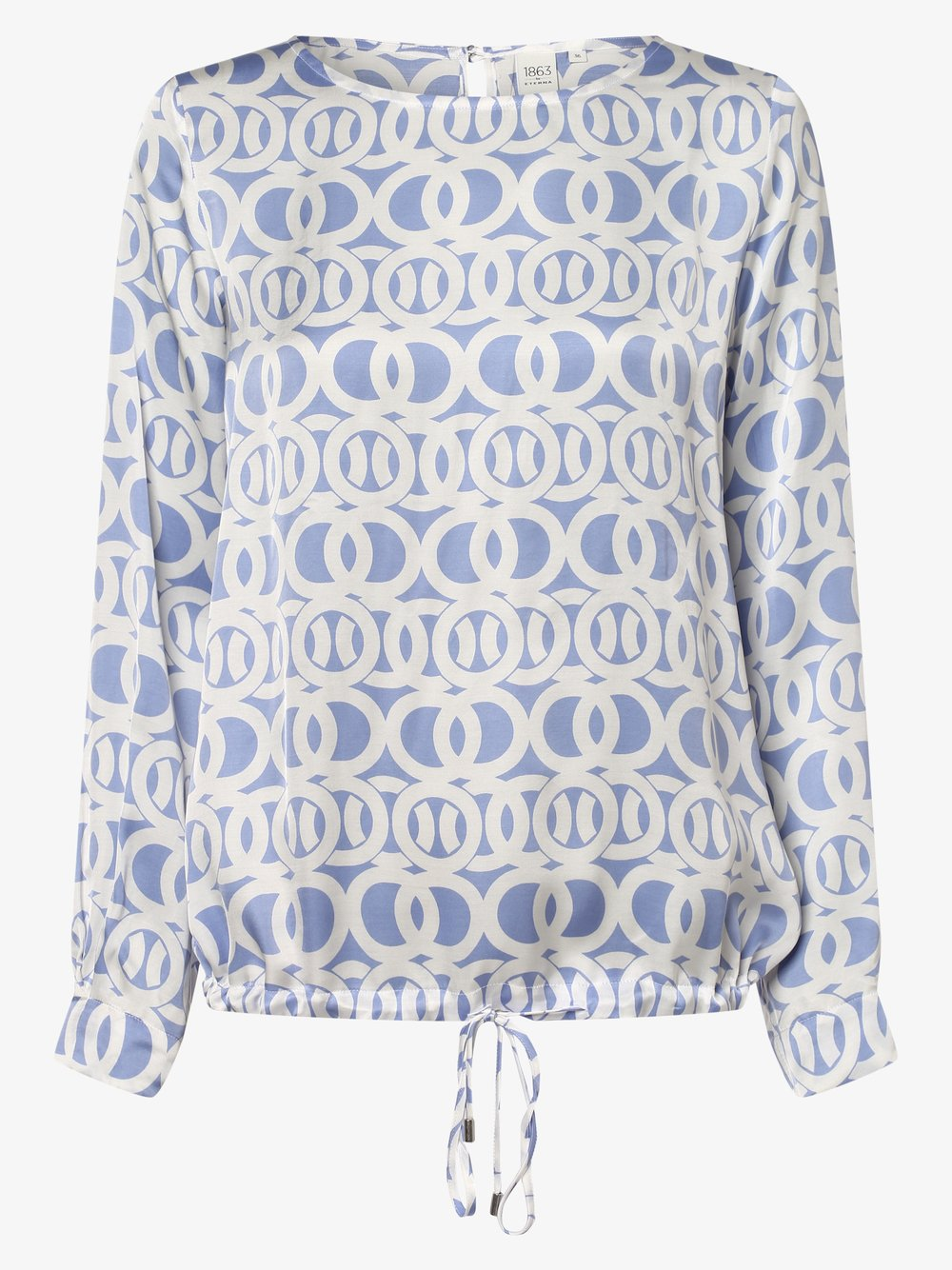 Eterna Premium – Bluzka damska, niebieski Van Graaf 461817-0001