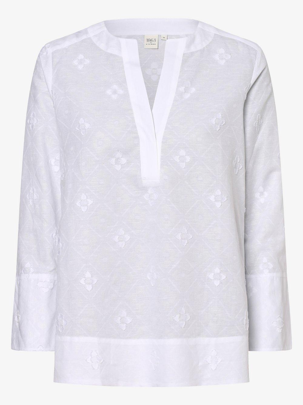 Eterna Premium – Bluzka damska z dodatkiem lnu, biały Van Graaf 461836-0001-00360