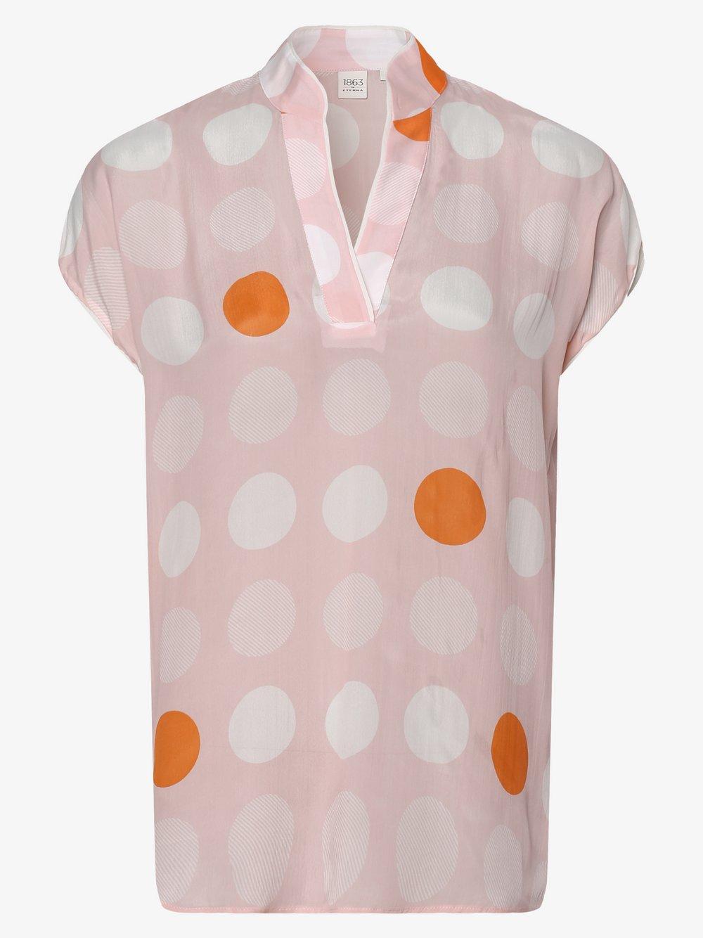 Eterna Premium – Bluzka damska z dodatkiem jedwabiu, różowy Van Graaf 461862-0001-00360