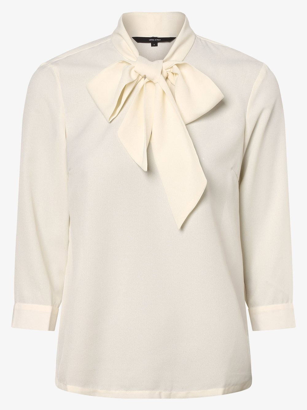 Vero Moda – Bluzka damska – Vmmille, beżowy Van Graaf 461909-0001