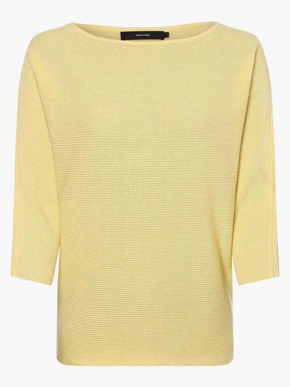 Vero Moda - Sweter damski – Vmnora, żółty