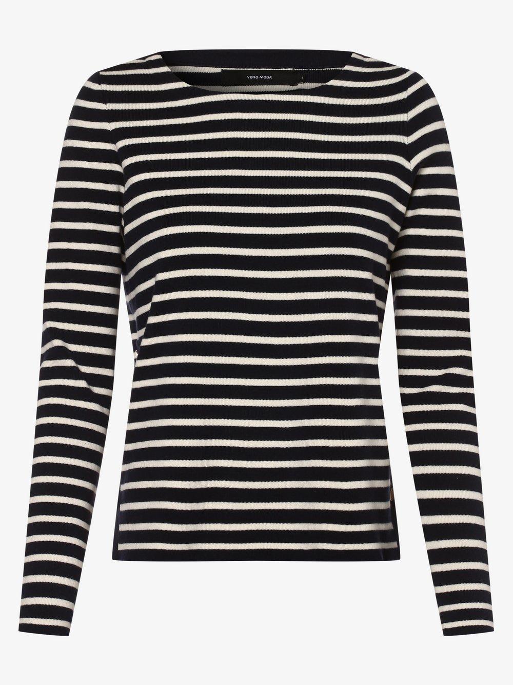 Vero Moda - Sweter damski – Vmsailor, niebieski