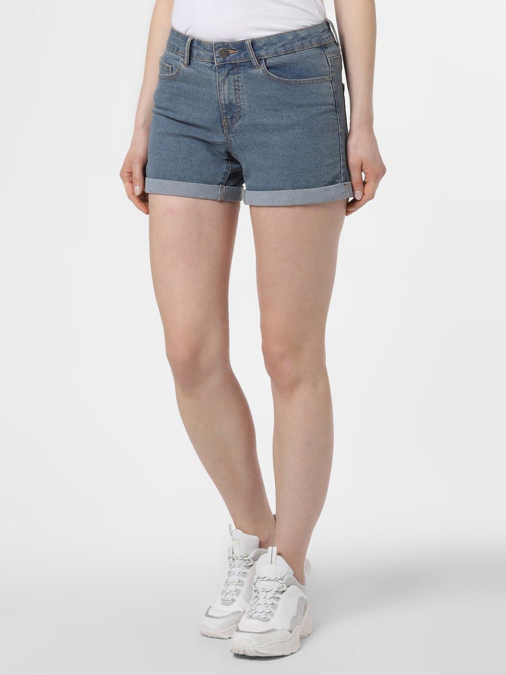Noisy May - Damskie krótkie spodenki jeansowe – Be Lucy, niebieski
