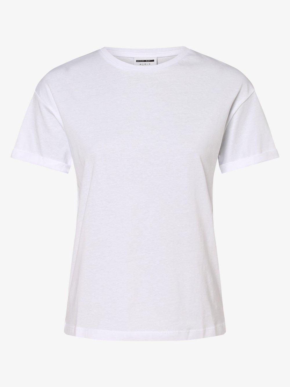 Noisy May - T-shirt damski – Nmbrandy, biały