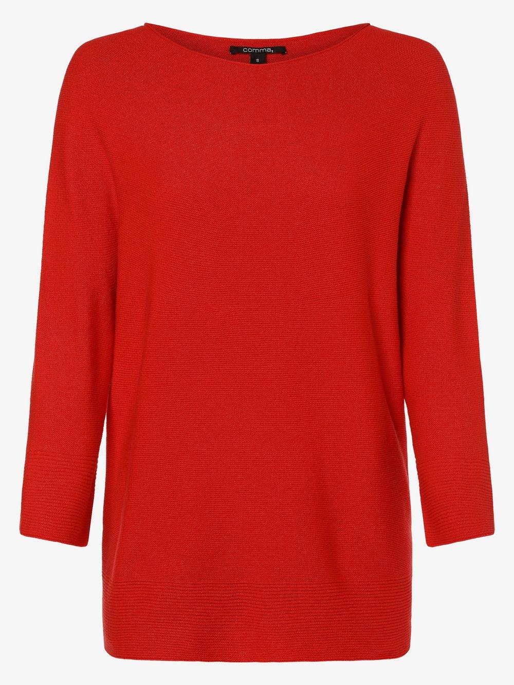 comma - Sweter damski, czerwony