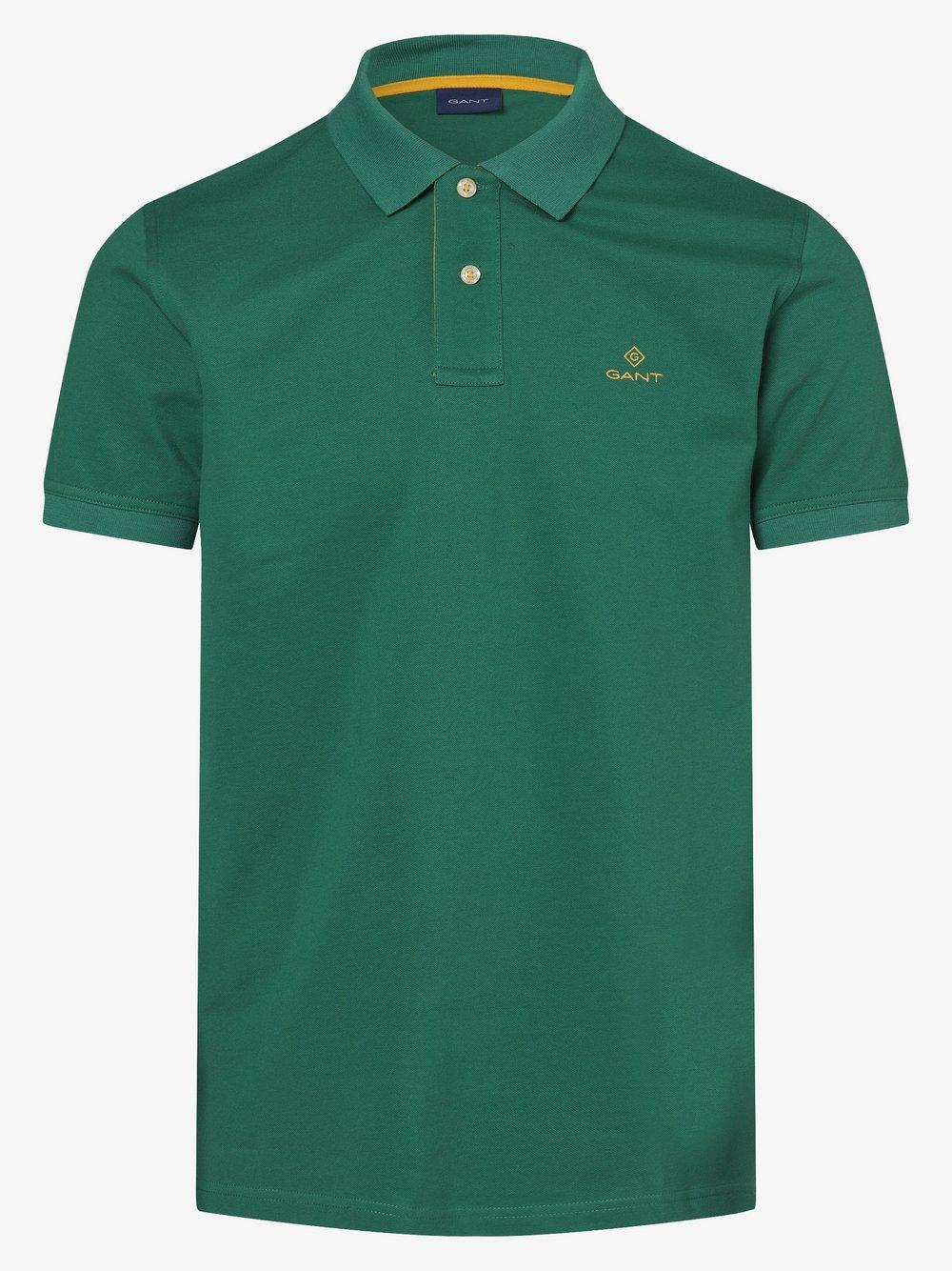 Gant - Męska koszulka polo, zielony