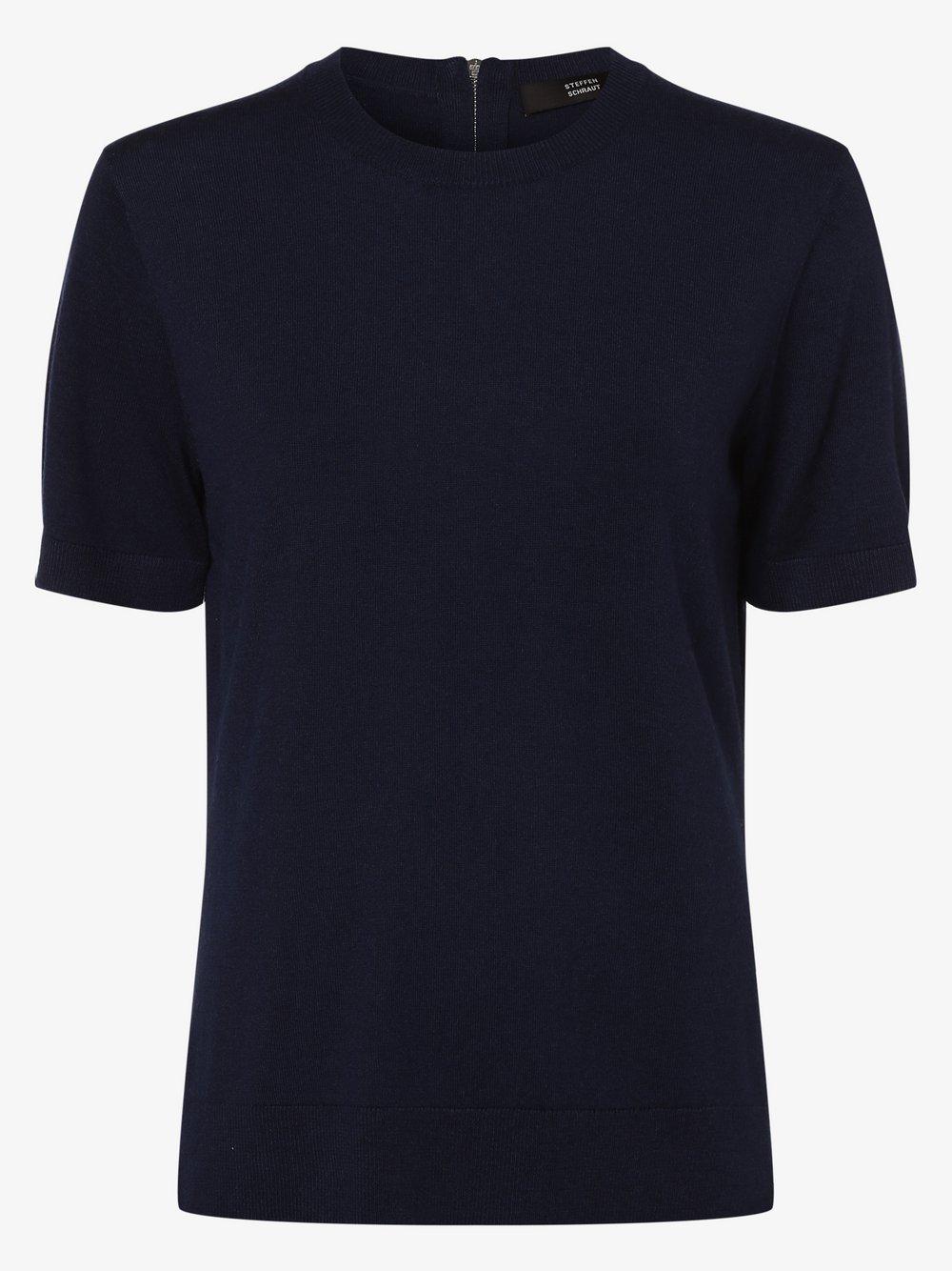 STEFFEN SCHRAUT – Sweter damski z dodatkiem kaszmiru, niebieski Van Graaf 462150-0001-00360