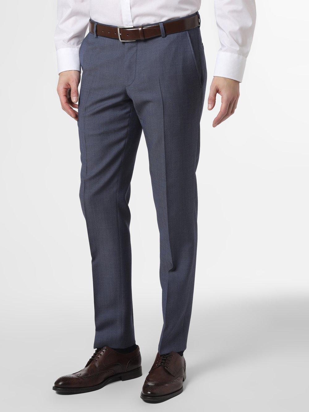 Joop - Męskie spodnie od garnituru modułowego – Blayr, niebieski