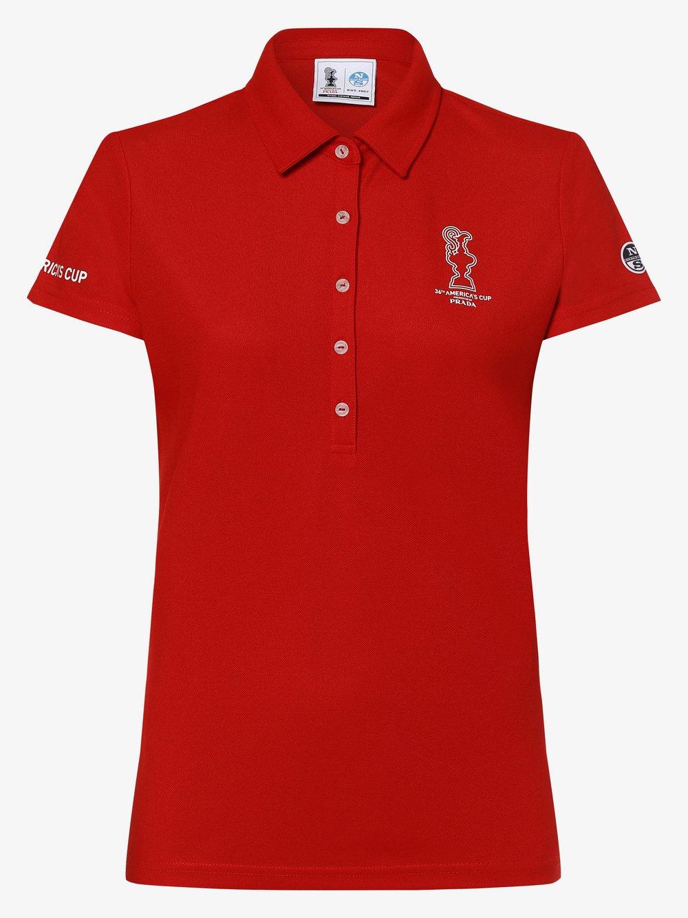 North Sails – Damska koszulka polo – Valencia, czerwony Van Graaf 462385-0004-09940