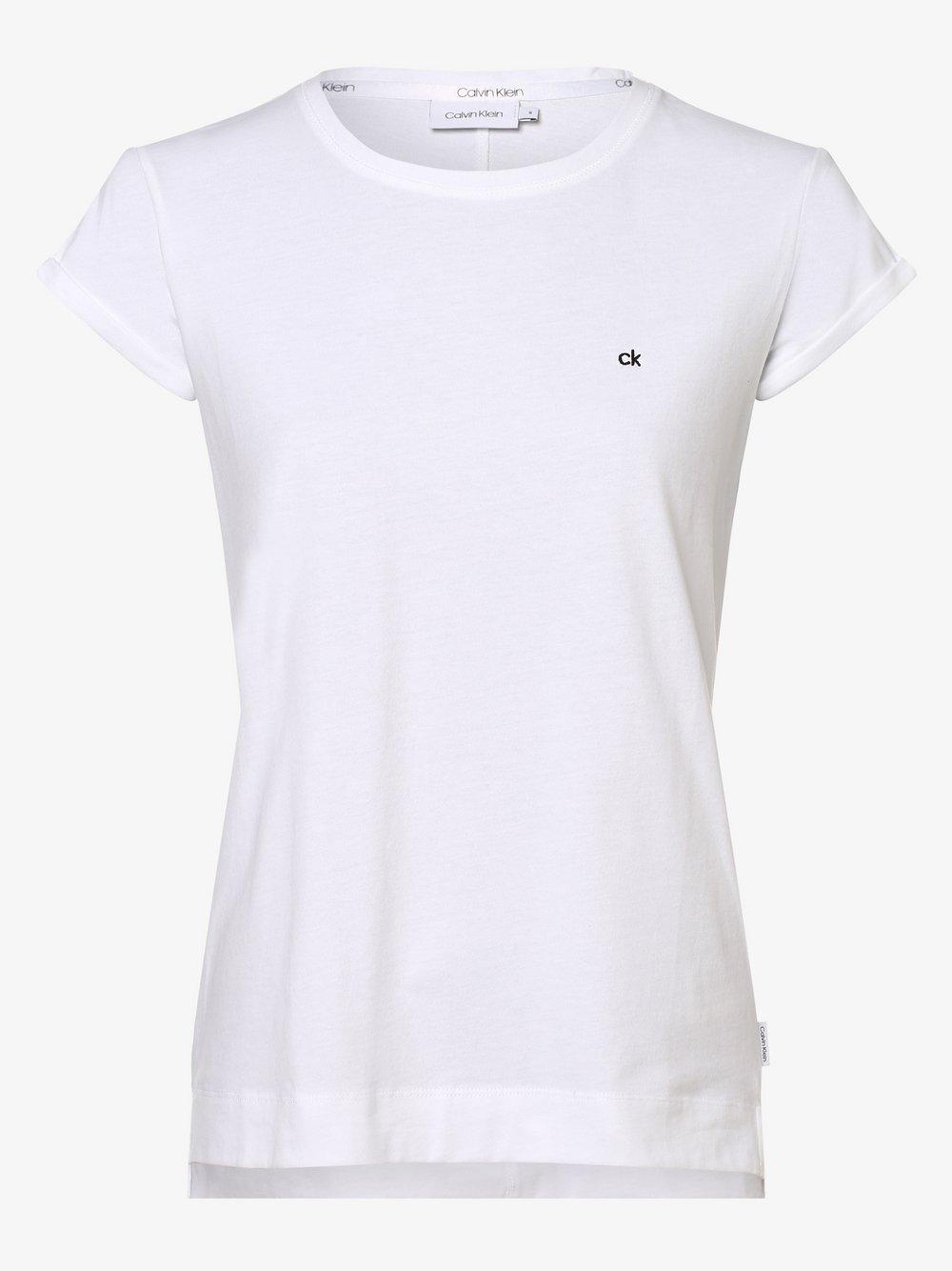 Calvin Klein - T-shirt damski, biały