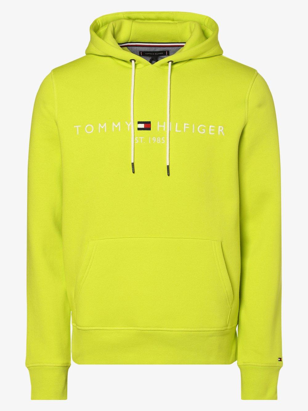 Tommy Hilfiger - Męska bluza nierozpinana, żółty