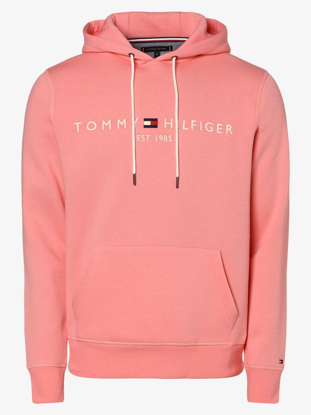 Tommy Hilfiger - Męska bluza nierozpinana, różowy